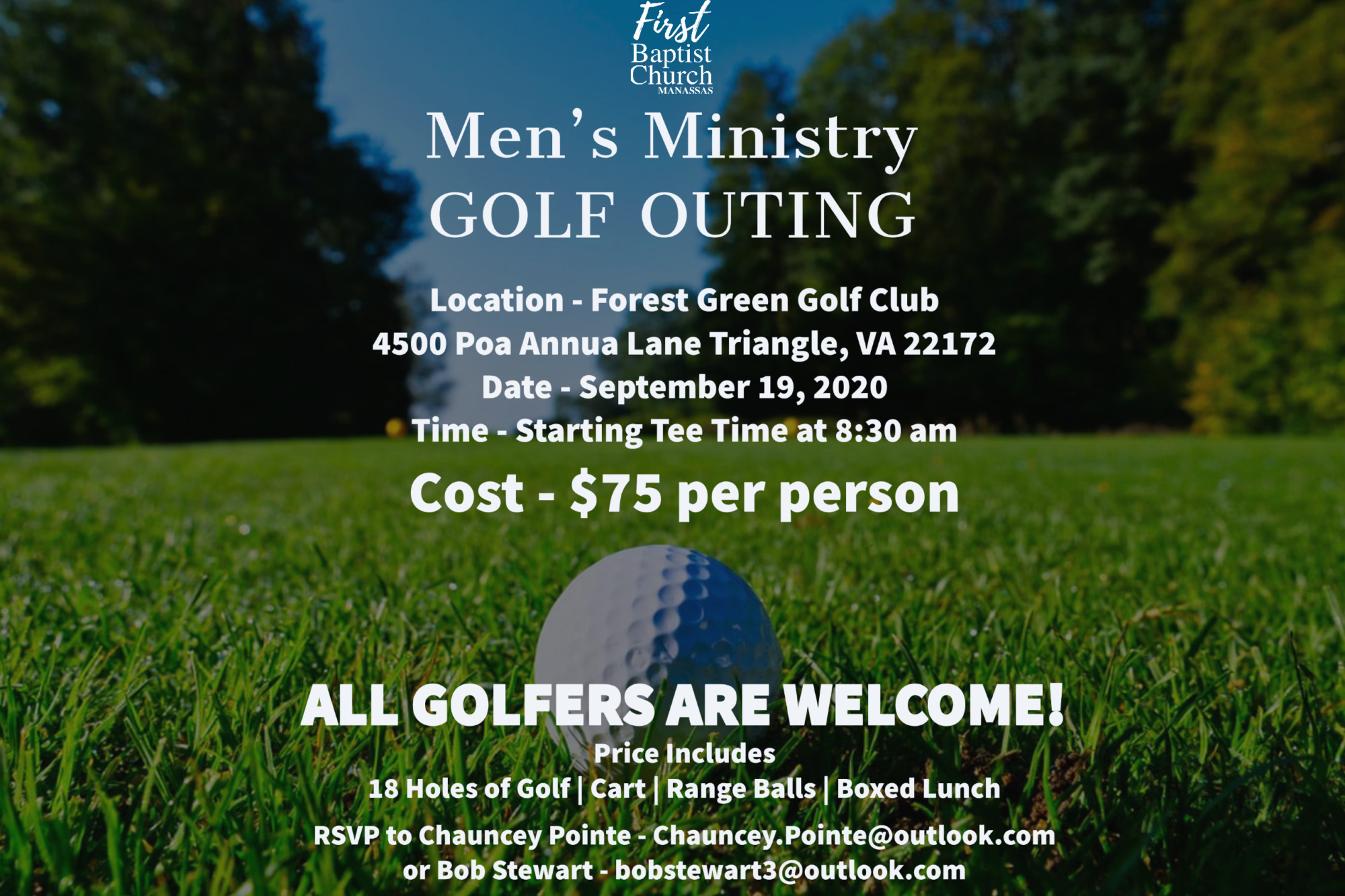 Men's Ministry Golf Outing @ Forest Greens Golf Club | Triangle | Virginia | United States